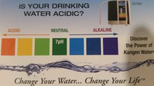 Kangen Water pH scale